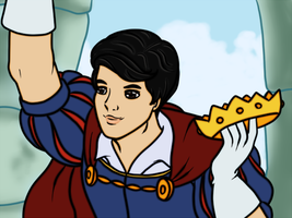 Blaine is Kurt's Heroic Prince by korychan