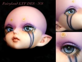 BJD Face Up - Fairyland LTF Dark Elf Soo 02 by Izabeth