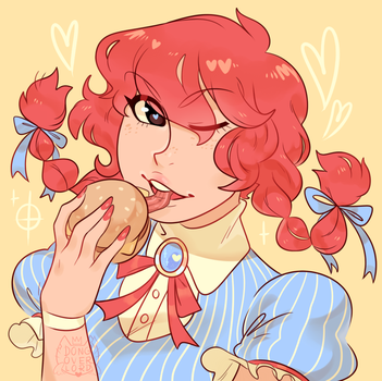 wendy's anime girl slays me by dongoverlord