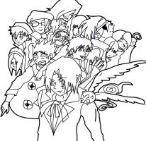 D. Gray man outline by superjacqui