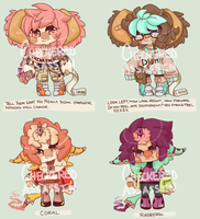 Cookies n Crayons Adopts (Set Price 3/4 OPEN) by TheRiffonAssassin