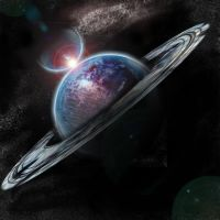 Planet with Starfield by oblivion83
