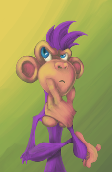 Monkey (game character) by angelnb