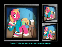 Shadowbox: Pony Tones Big Mac by The-Paper-Pony