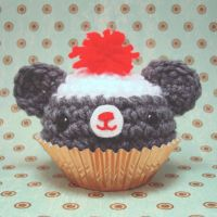 Sock Monkey Bear Cupcake by amigurumikingdom