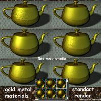 gold metal standart render by feniksas4