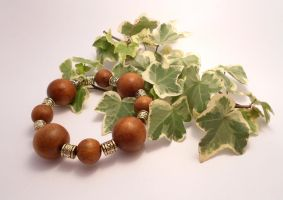 For Sale: Wood Glorious Wood! bracelet by Wirejeweller