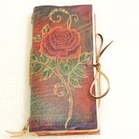 Long Rose leather journal. by gildbookbinders