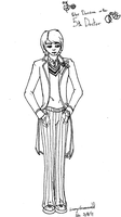 The Fifth Doctor Line art by aquabluejay