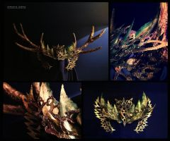 Antler headdress by VioletIcarus
