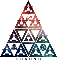 LOZ Triforce Legend Galaxy Design by Enlightenup23