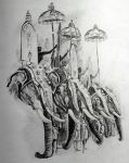 Dussehra Elephants by RanCh000