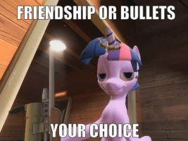 Friendship or Bullets by Inspectornills