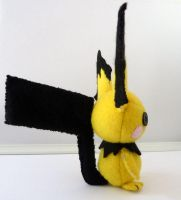 Pichu Plushie profile view by Shlii