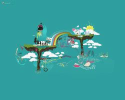 floating trees WP by LoneWolf2