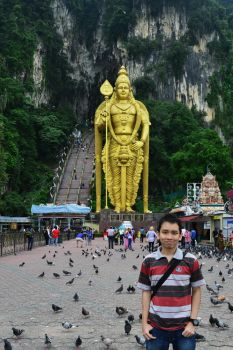 Me, Batu Caves by Ozzixx