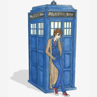 Ten and Tardis Icon by aquabluejay