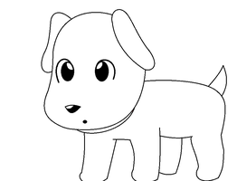 chibi puppy pratice XD by deathsbell