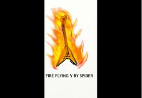 Flying V on Fire by SpiderIV