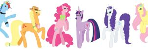 My Little Ponies in 10 Years by AlexKingOfTheDamned