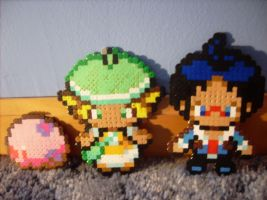 Perler: Belle, Cheren, and Munna by RitsuBel