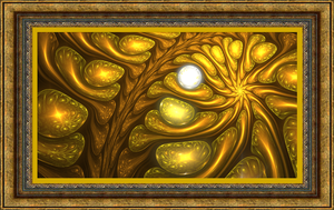 The Pearl in Gold by Fractamonium