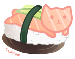 Sushi Cat by WanNyan