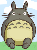 totoro luffs yew by cuddledcrayons