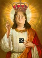 Gabe Newell Portrait by freddre