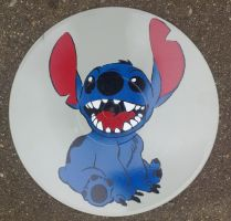 Stitch on vinyl by Cae55ium