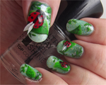 3D Ladybugs And Freehand leaves by Ithfifi
