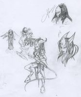 Draenei Sketches by LJNDeed