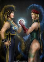 Chun Li and Cammy by CloudsDevourer