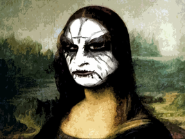 Black Metal Mona Lisa by MrAngryDog