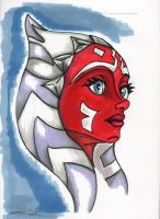 Ahsoka Tano - Markers by blue-but-beautiful