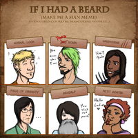 My Ocs - Beard Meme by JoeyHazelLM