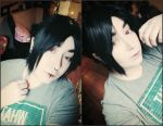 Sasuke Contacts and Wig WIP by Ki-sempai