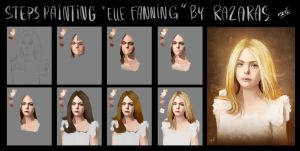 How to painting Elle Fanning by Razaras