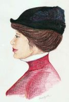 Woman with a hat by sweetlemmon