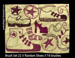 Brush Set 22 - Random Shoes by punksafetypin