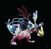 Black Kyurem colored by TomateBleuet