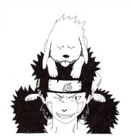 Kiba and Akamaru by Fallen-Angel42