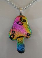 Magic Mushroom Dichroic Glass by poisons-sanity