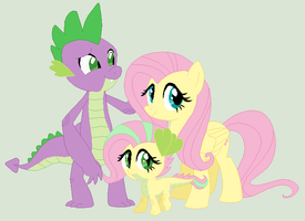 FlutterSpike Family [Commission] by unoriginaI