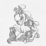 Them's Fightin' Herds - Pom and the Puppies by GeminiShadows