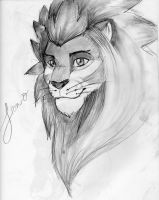 Lion-O Natural State Head Shot (Lion-King Style) by Okhorse21