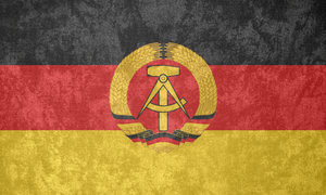 East Germany ~ Grunge Flag (1959 - 1990) by Undevicesimus
