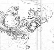 Invincible 52 Mauler pencil by RyanOttley