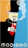 Dr Bubo Modiano plakat by Antrazehn