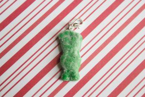 polymer clay green sour patch kids by l337Jacqui